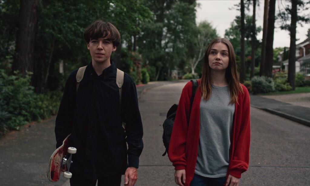 PSYKOPATEN OG OFFERET? To tenåringer drar på rømmen i en ny, svart komiserie fra Netflix. Foto: NETFLIX