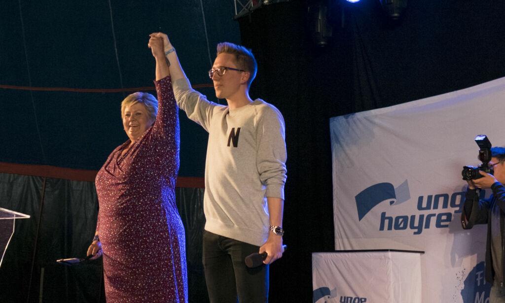 image: Solberg: Dette er en lei sak for både Tonning Riise og Høyre