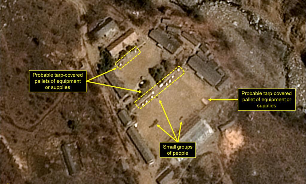 AKTIV BASE: Det er observert aktivitet ved Nord-Koreas kjernefysiske prøvesprengningsanlegg. Det indikerer ifølge seniorforsker Halvor Kippe at basen vil fortsette å brukes til testing av kjernefysiske våpen. Foto: Reuters / NTB scanpix