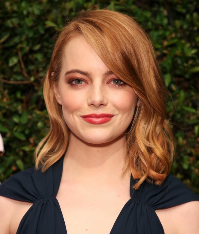 BEST BETALTE KVINNLIGE SKUESPILLER: Emma Stone, kjent fra blant annet «La La Land», «Easy A» og «The Help», er Hollywoods best betalte kvinnelige skuespiller. FOTO: NTB Scanpix