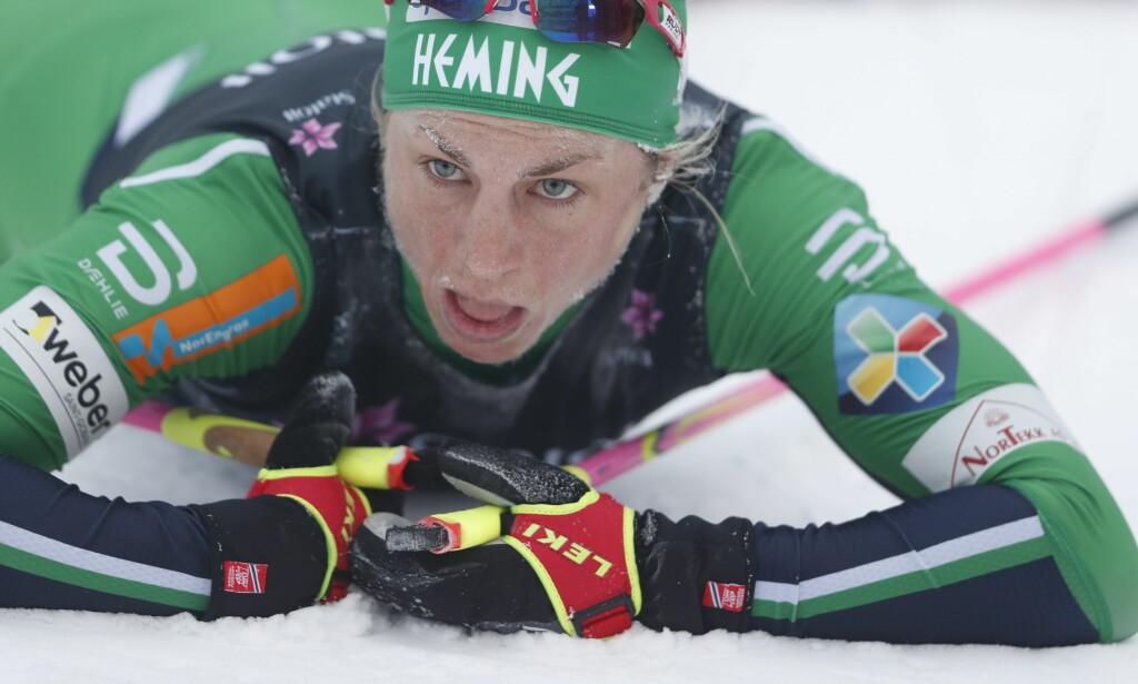 VILL INNSPURT: Astrid Uhrenholdt Jacobsen visste ikke om hun ble gull- eller sølvvinner da hun passerte målgangen. Foto: Bjørn Langsem / Dagbladet