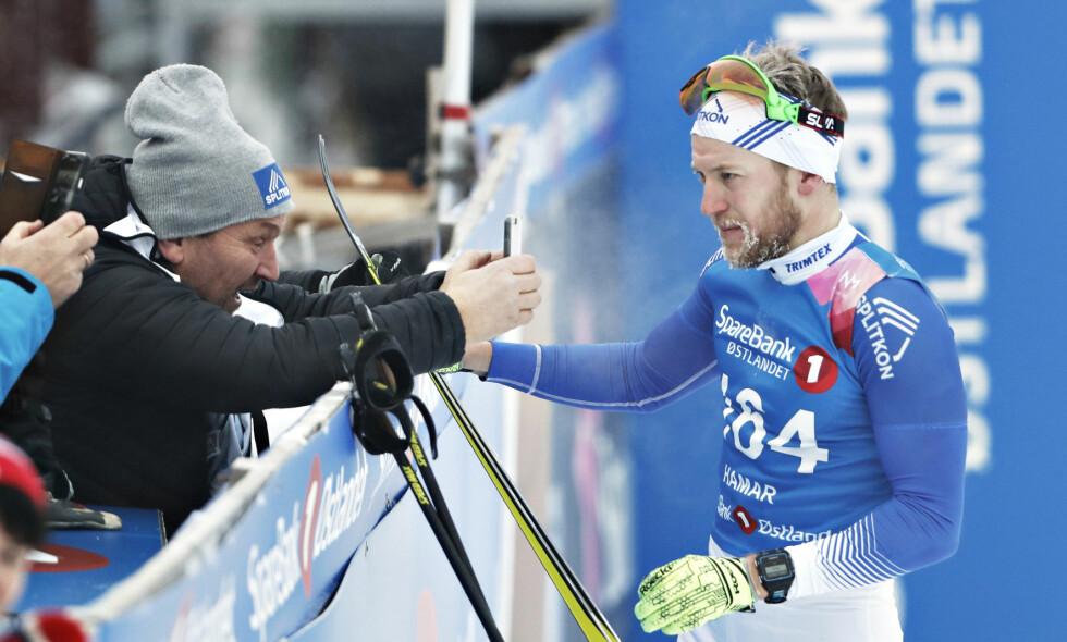 OVERRASKET: Per Kristian Nygård (30) tok et overraskende sølv under NM i 15 km fristil på Gåsbu. Foto: Bjørn Langsem / Dagbladet