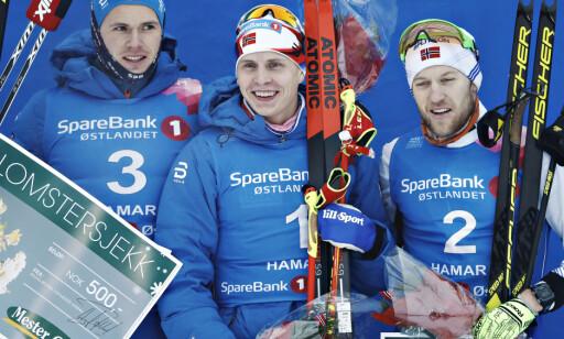 PALLEN: Daniel Stock, Simen Hegstad Krüger og Per Kristian Nygård. Foto: Bjørn Langsem / Dagbladet