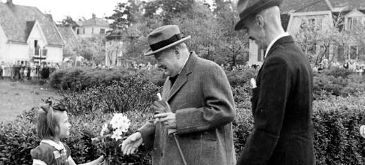 Churchill sovnet under lunsjen i Norge, men våknet da portvinen kom på bordet