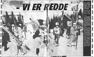 FAKSIMILE: Etter alle fallene i 1986 sa hoppere rett ut at de var redde for å sette utfor.