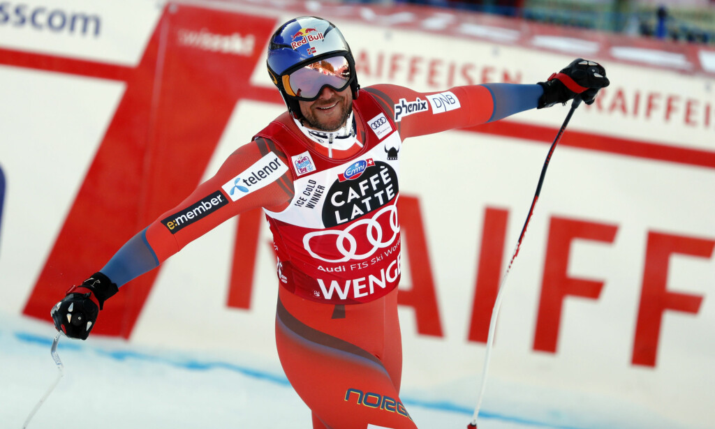 2. PLASS: Aksel Lund Svindal endte på 2. plass i verdens tøffeste utforløype i Wengen. REUTERS/Stefan Wermuth