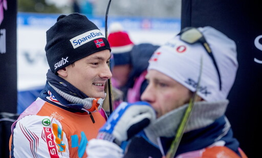 OPTIMIST: Finn Hågen Krogh måtte slippe Martin Johnsrud Sundby til slutt, men er trygg på at han skal kjempe om OL-medaljer om en måned. Foto: Bjørn Langsem / Dagbladet