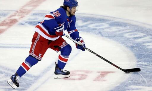 POENGKONGE: Mats Zuccarello har toppet poengstatistikken for New York Rangers i tre av de siste fire sesongene. Foto: Abbie Parr/Getty Images/AFP