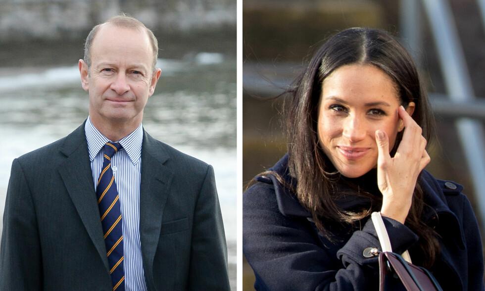 UPASSENDE MELDINGER: Partileder for UKIP, Henry Bolton, i hardt vær etter kjærestens urovekkende meldinger om Meghan Markle. Foto: NTB scanpix