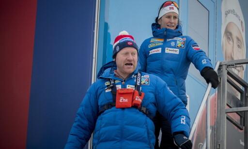 BESTEMMER: Roar Hjelmeset bestemmer om Marit Bjørgen får gå fire, fem eller seks renn i OL. Det kan få betydning for Rognes-jentas rekordjakt. Foto: Bjørn Langsem / Dagbladet