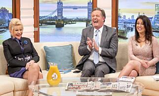 FROKOST-TV: Ivana Trump forsvarte ektemannen da hun mandag morgen gjestet TV-programmet Good Morning Britain. Foto: Ken McKay / ITV / REX / Shutterstock / NTB Scanpix