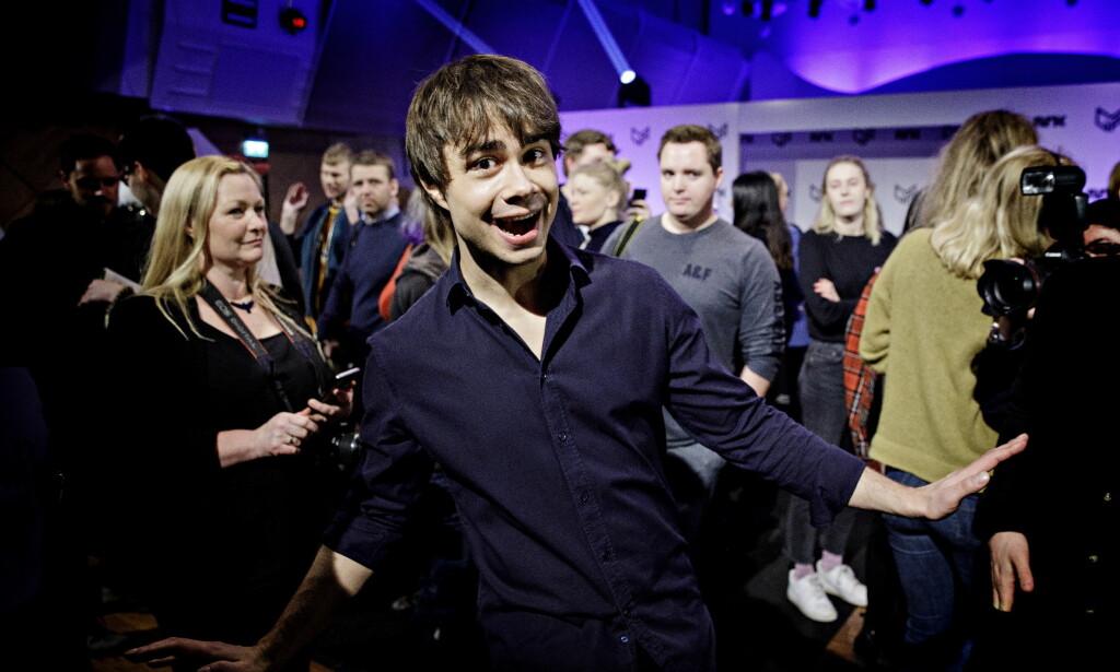 MINDRE FIOLIN: Alexander Rybak er på plass i Melodi Grand Prix igjen, med mindre fiolin enn forrige gang. Foto: Nina Hansen