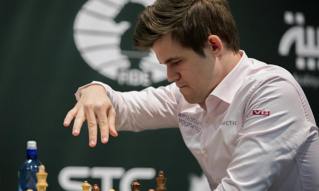 REMIS: Magnus Carlsen var ikke spesielt snakkesalig etter partiet. Foto: NTB Scanpix