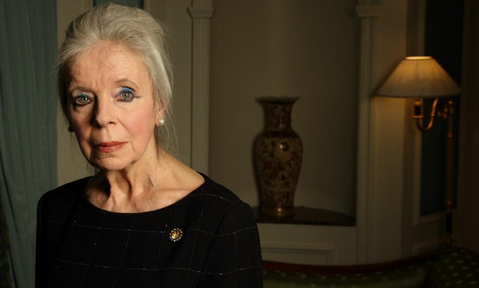 MYTEOMSPUNNET: Interessen rundt privatlivet til den nå avdøde Lady Lucan har vært enorm blant det britiske folk i mange år. Hun gikk bort i september i fjor, og nå er det klart at barna ikke arver en krone. Foto: NTB Scanpix
