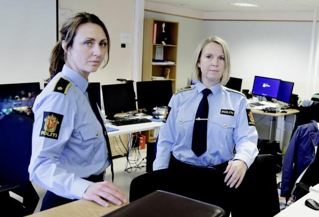 DARK ROOM: Operasjon Dark Room har avdekket et stort nettverk. Etterforskningleder Hilde Reikrås (til venstre) og politiadvokat Janne Ringset Heltne leder enheten. FOTO: Paus S. Amundsen