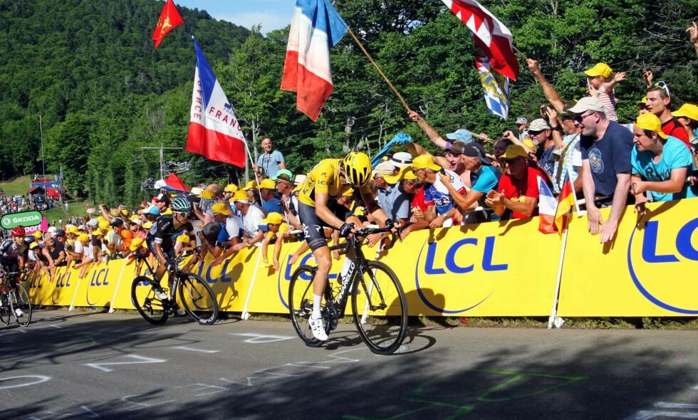TOUR DE FRANCE: Tour de France-starten i 2019 er lagt til Brüssel. Foto: John Pierce/PhotoSport Int/REX/Shutterstock