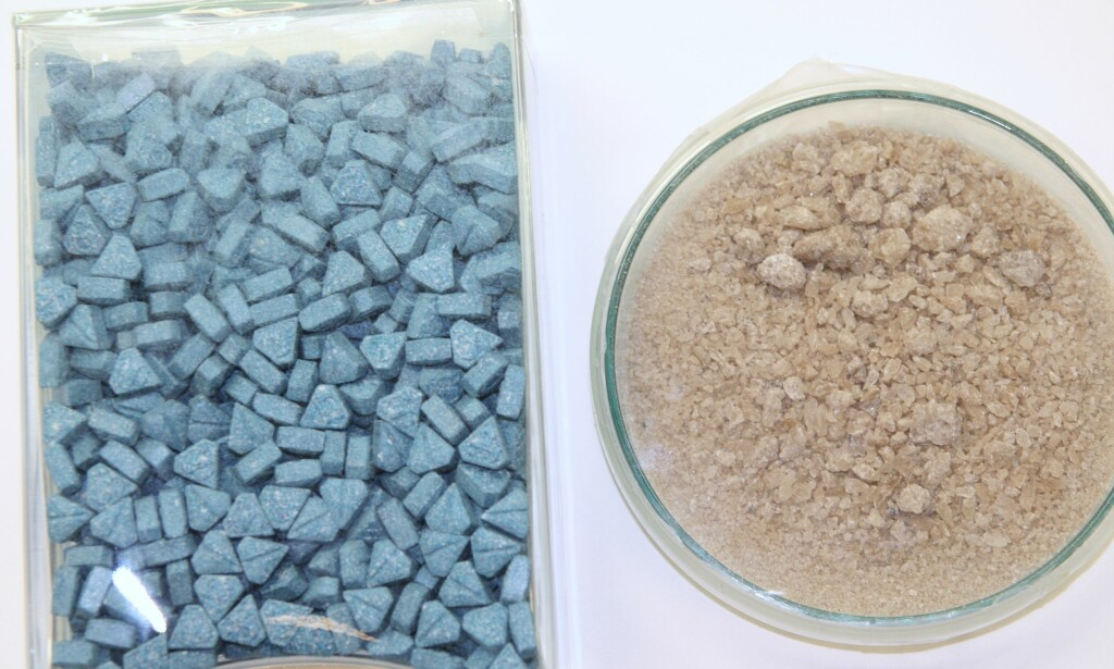MDMA-BESLAG: Slik kan MDMA se ut i pille- og pulverform. (Foto: Kripos)