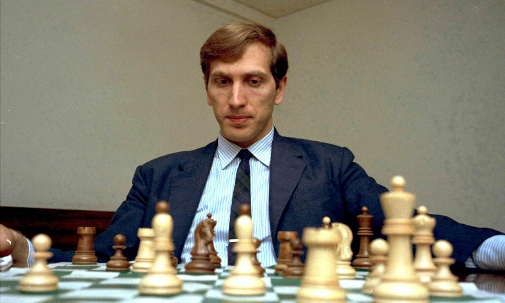SJAKKGENIET: Bobby Fischer, her avbildet i 1971. Året etter hadde han vunnet tidenes mest omtalte VM-match på Island. Foto: NTB Scanpix
