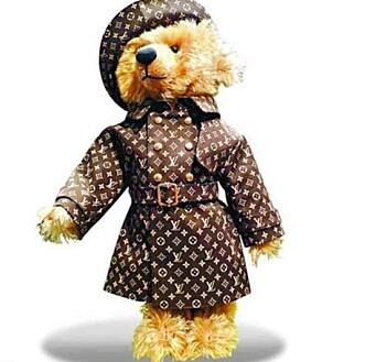 KOSEBAMSE: En bamse til 1,35 millioner er kommerusk for Kim Kardashian. Foto: Louis Vuitton