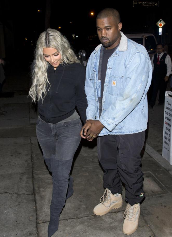 FORELDRE IGJEN: Kim og Kanye kan feire at de har fått en liten datter. Foto: NTB Scanpix