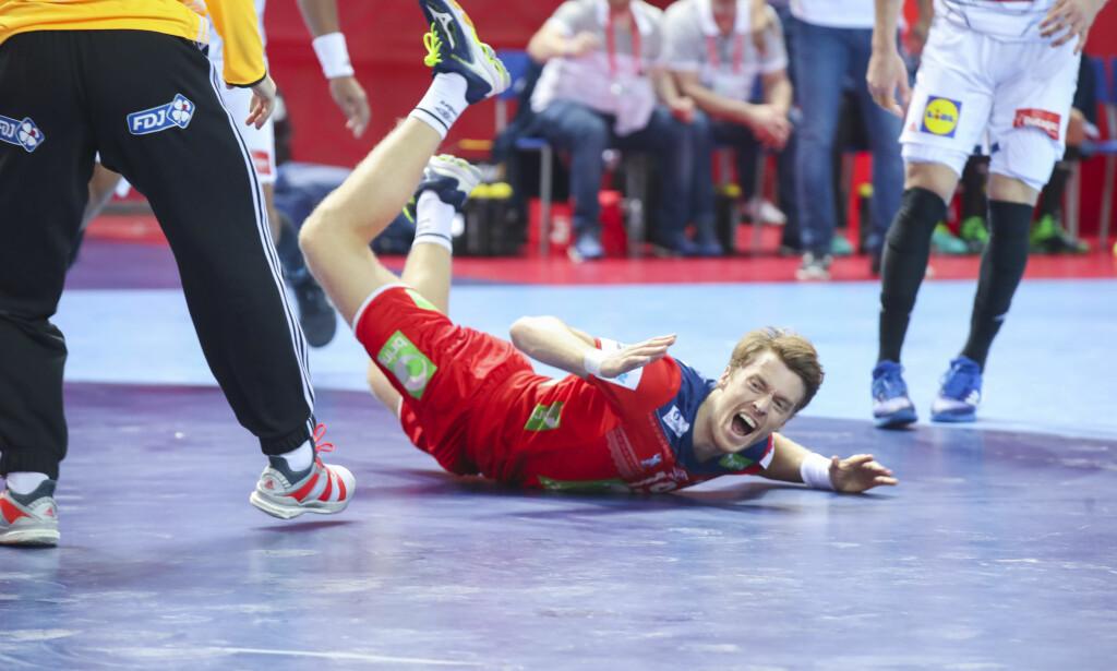 GOD: Kristian Bjørnsen mot Østerrike i håndball-EM. Foto: Vidar Ruud / NTB scanpix