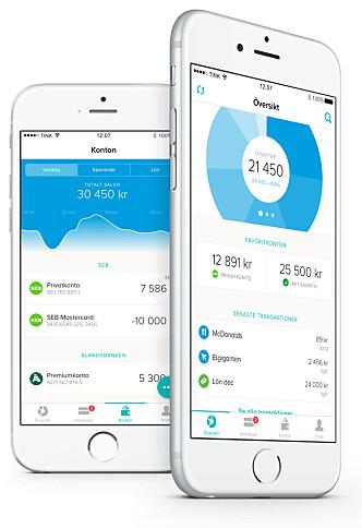 <strong>MORGENDAGENS VIRKELIGHET:</strong> I Sverige har de appen Tink, som blant annet enkelt og pent gir deg oversikt over alle kontoene dine og lar deg flytte lånet. Snart vil vi se mer av dette også i Norge. Foto: Tink
