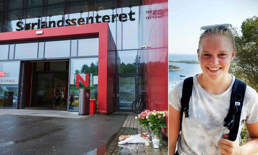 Drept: 17-år gamle Marie Skuland (bildet) ble drept og en 23 år gammel kvinne alvorlig skadd da en 15 år gammel jente gikk til angrep med kniv inne på Coop obs på Sørlandssenteret i fjor sommer. Foto: Tor Erik Schrøder / NTB scanpix / Privat
