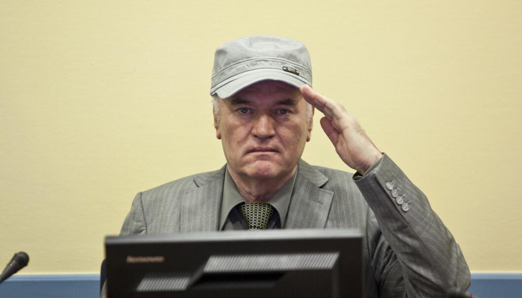 KRIGSFORBRYTER: Den tidligere bosnisk-serbiske generalen Ratko Mladic ble funnet skyldig i blant annet folkemord i Haag i november i fjor. Foto: Zoran Lesic / Sandpaper Films UK