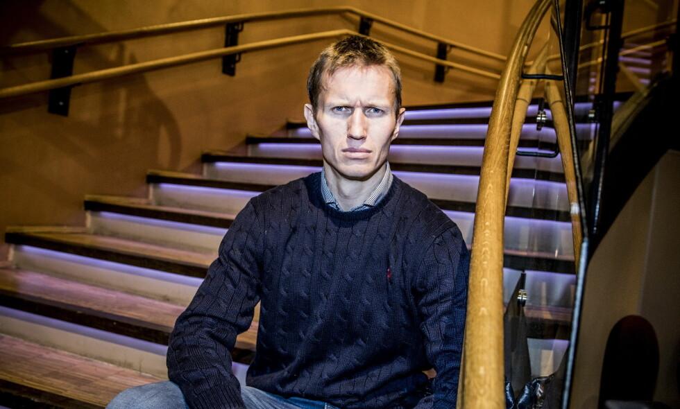 BITTER: Frank Løke (38) viser ingen tegn til ydmykhet dagen etter han ble kastet ut av «Skal vi danse». Foto: Christian Roth Christensen / Dagbladet