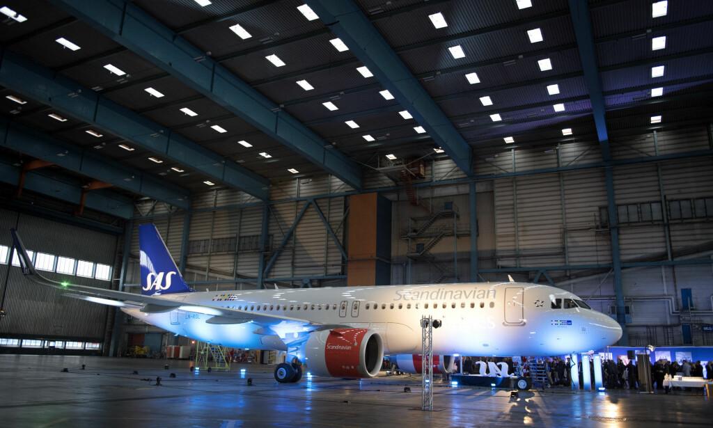 AIRBUS: SAS' Airbus A320 ble vist på Arlanda flyplass i Stockholm i 2016. Arkivfoto: Jessica Gow/TT / NTB scanpix