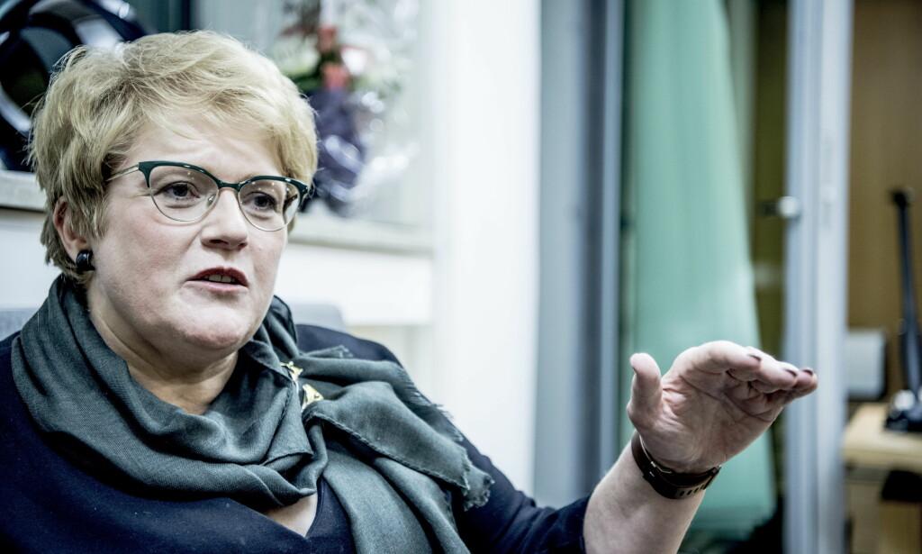 SVARTE: Trine Skei Grande tok til orde mot rykteflom om henne på nett tidligere denne uka. Foto: Thomas Rasmus Skaug / Dagbladet