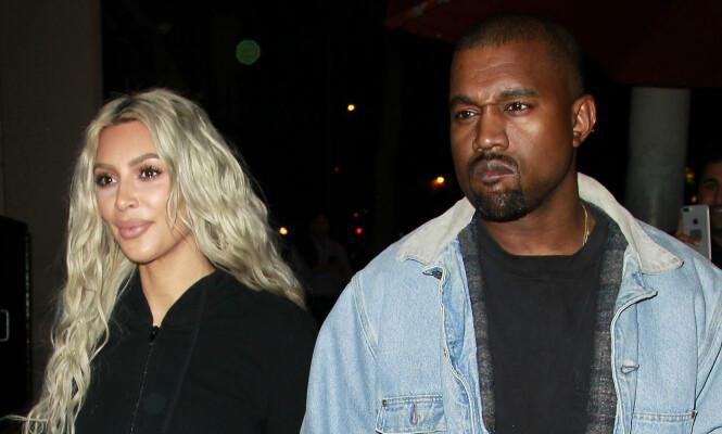 UENIGE: Stjerneparet Kim Kardashian og Kanye West skal ikke ha kommet til enighet om hva deres nyfødte datter skal hete. Foto: NTB scanpix