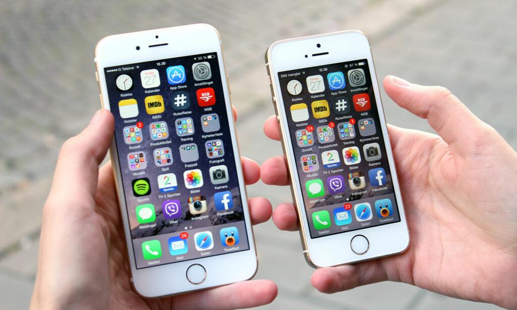 BLIR TREGERE: Eldre iPhone-modeller blir tregere når batteriet svekkes. Foto: Terje Kleven