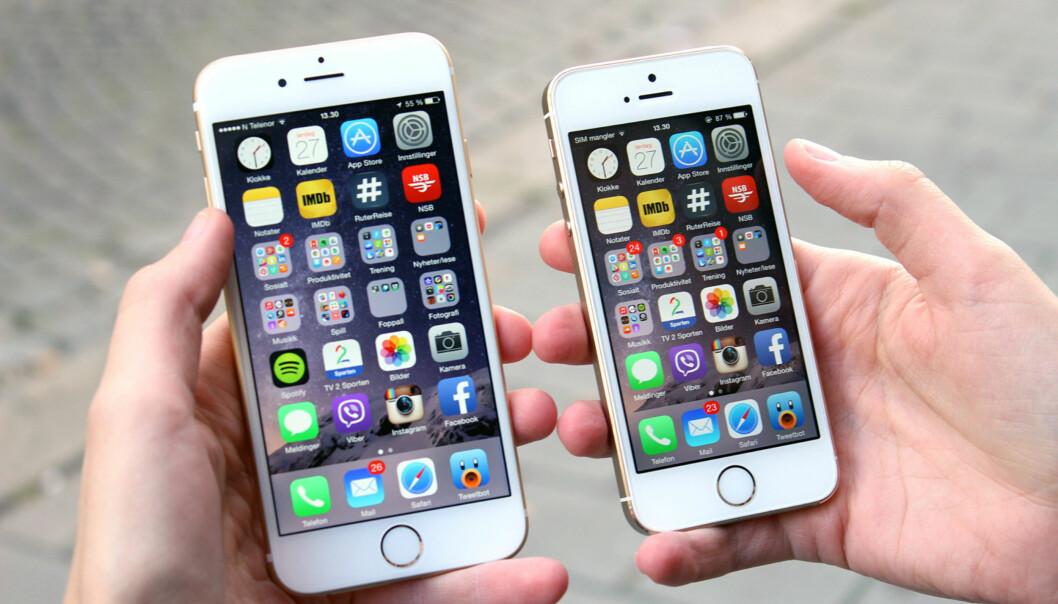 <strong>BLIR TREGERE:</strong> Eldre iPhone-modeller blir tregere når batteriet svekkes. Foto: Terje Kleven