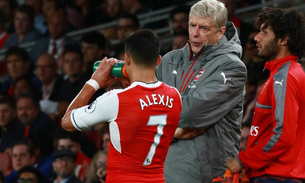 SELGES SANNSYNLIGVIS. Wenger forteller at Alexis Sanchez sannsynligvis selges innen kort tid. Foto: Paul Marriott/REX/Shutterstock/NTB Scanpix