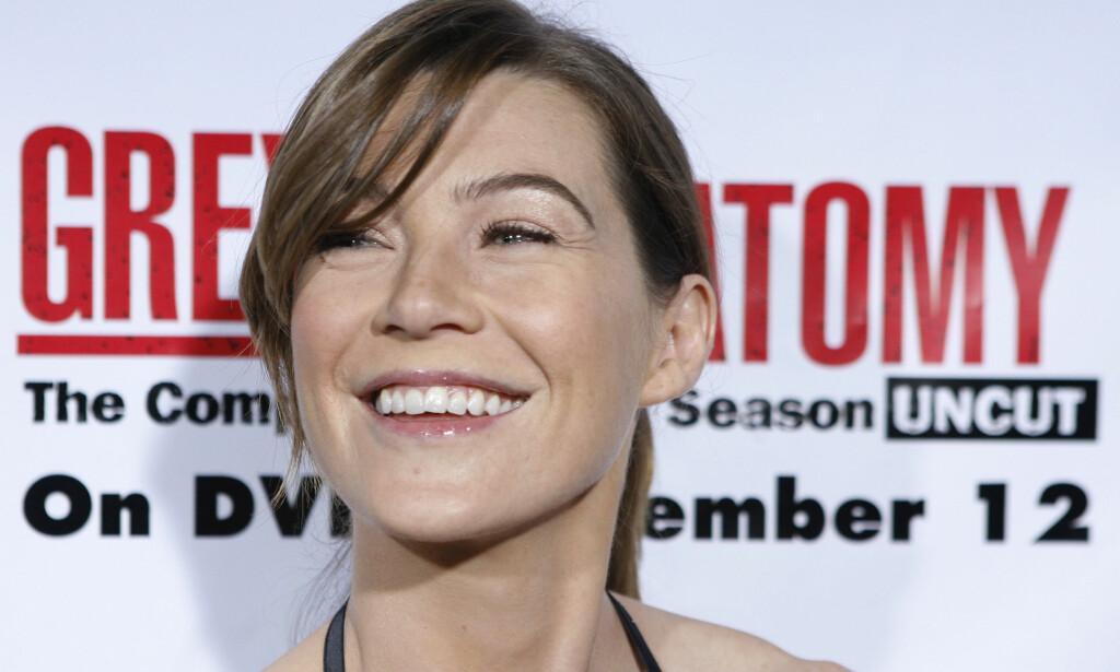 STJERNE: Ellen Pompeo, som spiller Meredith Grey i tv-serien «Grey's Anatomy», signerte nylig en lukrativ avtale. I et intervju med Hollywood Reporter sier hun at hun ikke fikk den anerkjennelsen hun følte hun fortjente før medskuespiller Patrick Dempsey (Dr. Shepherd) sluttet i 2015. Foto: NTB scanpix