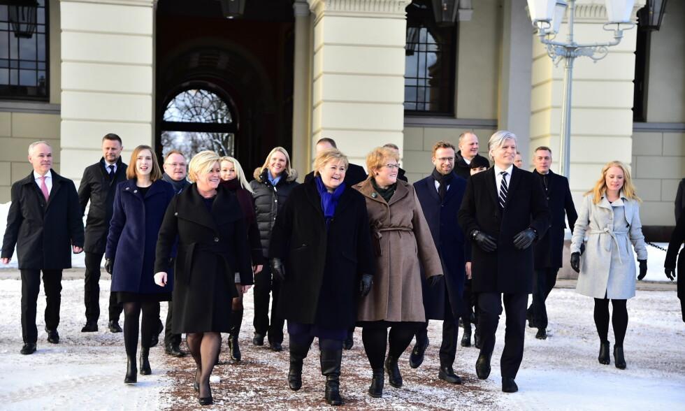 ENDRINGER: Endringer i regjeringen blir avgjort i ekstraordinært statsråd senere i dag, etter det NTB erfarer. Foto: Hans Arne Vedlog / Dagbladet