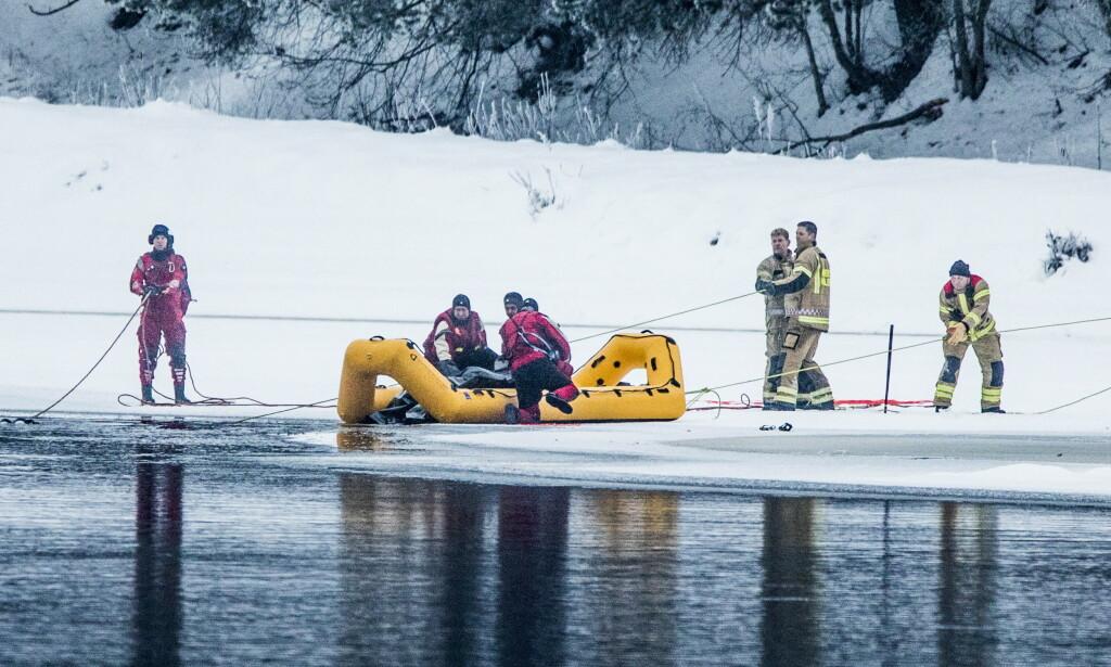 FUNNET I ELVA: Janne Jemtland ble funnet død i Glomma ved Våler 13. januar. Foto: Christian Roth Christensen / Dagbladet