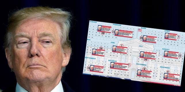 image: Sjekk skandalekalenderen som har preget Trumps første år