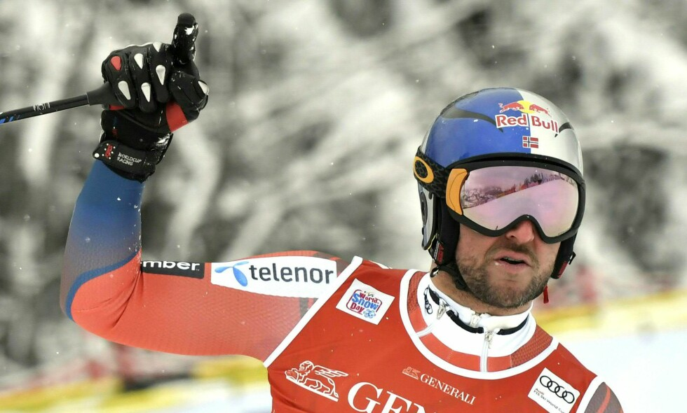 ENDA EN COMEBACK-TRIUMF: For to år siden røyk Aksel Lund Svindal korsbåndet i høyre kne i Kitzbühel. Her vinner han Super G for tredje gang i den samme bakken, den sjette pallplassen i Kitzbühel. Ikke fordi han trener mest, men fordi han er Aksel Lund Svindal. Verdens beste fartskjører på ski. Foto: Hans Knecht, AP