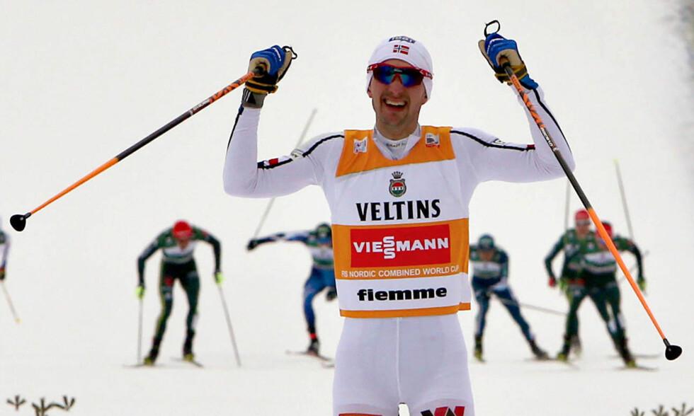 VANT IGJEN: Jan Schmid kunne feire ny verdenscupseier lørdag. Foto: Mario Facchini, AP / NTB scanpix