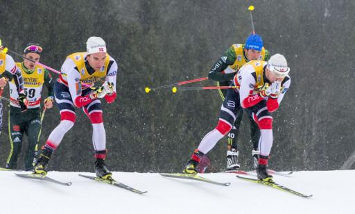 SJANSELØS: Sindre Bjørnestad Skar er én av nordmennene som er ute av kampen om å få OL-sprinten i Pyeongchang. Foto: Terje Pedersen / NTB scanpix