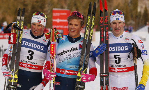 SPIKRET OL-PLASSEN: Nå er det umulig å vrake Emil Iversen til OL-sprinten etter 2. plassen i Planica. Foto: Primoz Lovric / NTB scanpix
