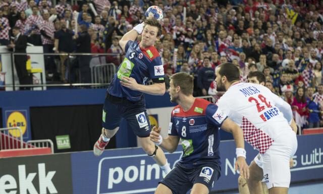 aba508c3 VIKTIG KAMP: Sander Sagosen under kampen mellom Kroatia og Norge. Foto:  Vidar Ruud