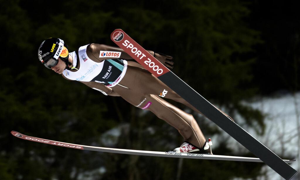 PROFIL: Jan Ziobro kan skilte med én verdenscupseier i hopp. Her fra Trondheim sist vinter. Foto: NTB scanpix