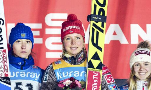 image: Maren Lundby sikret sin femte strake hopptriumf
