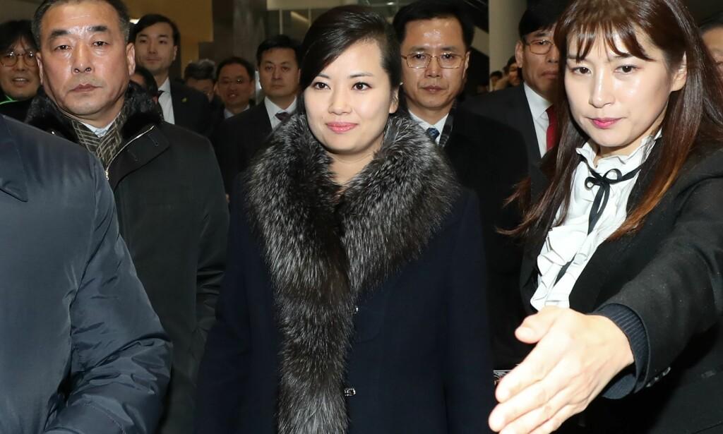 NORDKOREANSK POPSTJERNE: Den nordkoreanske popstjernen Hyon Song-wol ledet i dag en delegasjon til Sør-Korea, som en del av forberedelsene til OL i Sør-Korea. FOTO: AFP/ NTB Scanpix