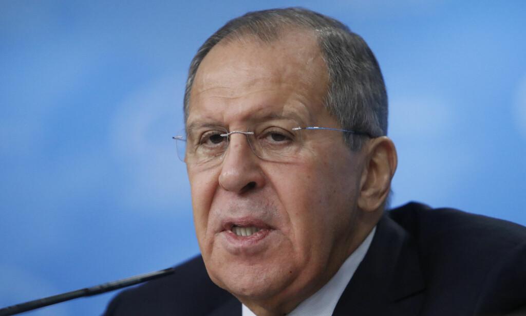KRITISK: Russlands utenriksminister, Sergej Lavrov, mener Vestens «russerfobi» er verre i dag enn under den kalde krigen. FOTO: NTB Scanpix / REUTERS/Sergei Karpukhin