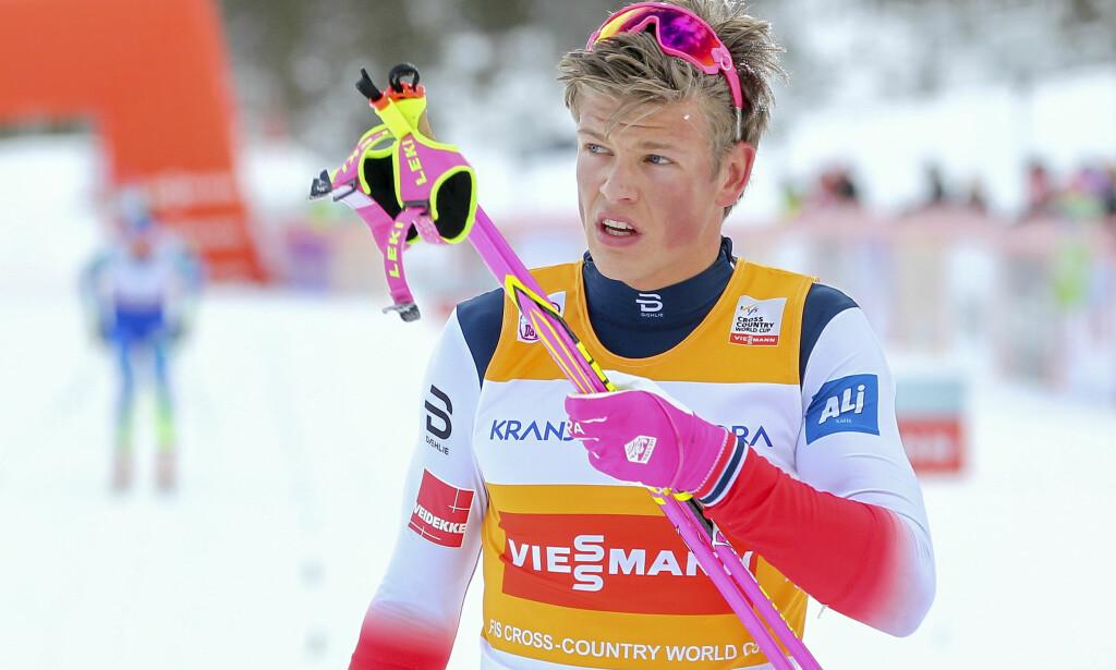 GÅR I SEEFELD: Verdenscupleder Johannes Høsflot Klæbo går begge distansene i OL-generalprøven. Foto: Primoz Lovric / NTB scanpix