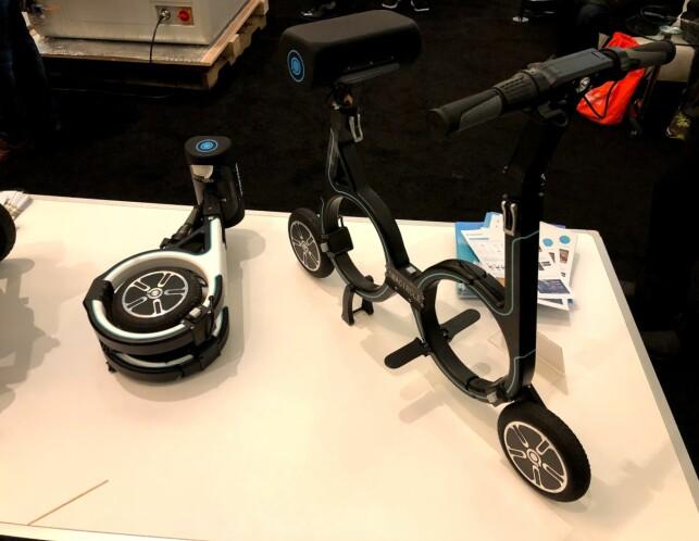 SMART: Hjulene får plass inni sirklene når du pakker sykkelen sammen. Foto: Bjørn Eirik Loftås